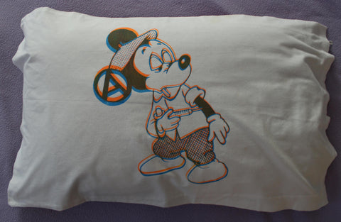 Mickey Mouse Drug Fix Pillowcase - Anarchy Punk Pillow cover