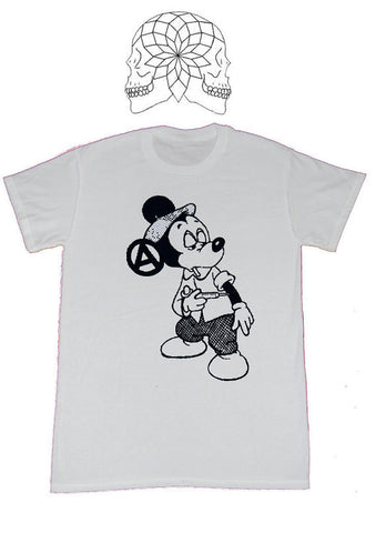 Mickey Fix Punk T-shirt - Classic White tee