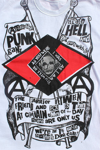 Anarchist Punk Gang - Seditionaries T-shirt - Create Hell - Sm-Med-Large