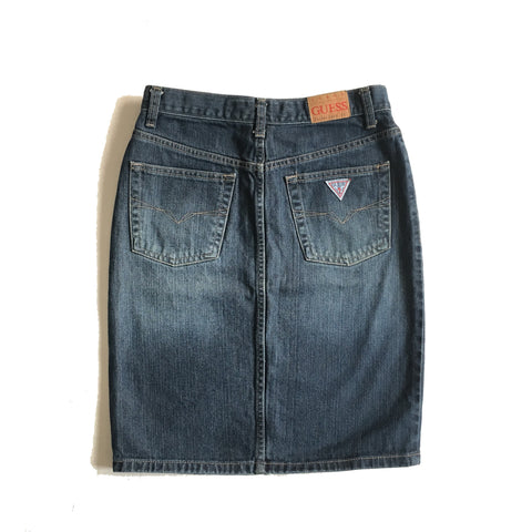 Vintage Guess Jeans Denim Pencil Skirt