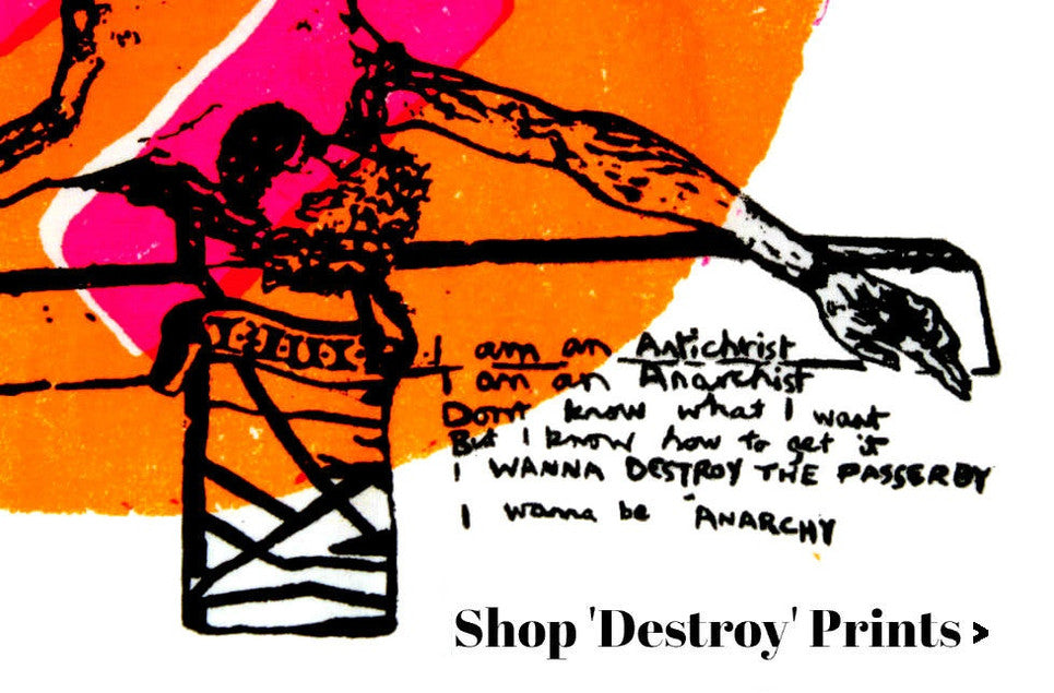 Shop Destroy Punk Print