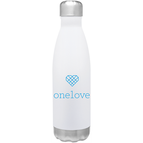 One Love Water Bottle - White