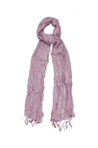 Silk & Linen Crinkle Scarf - Pink Candyfloss