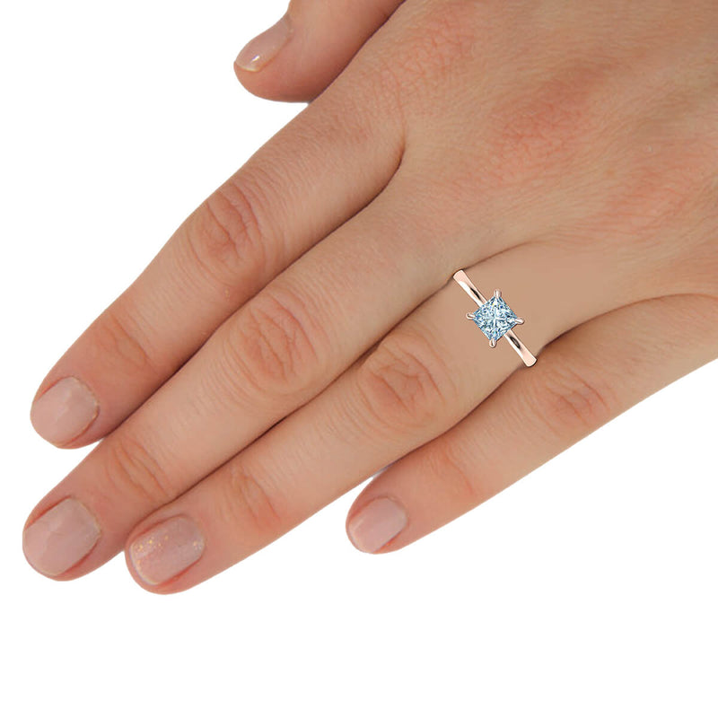 Petite Solitaire Engagement Ring