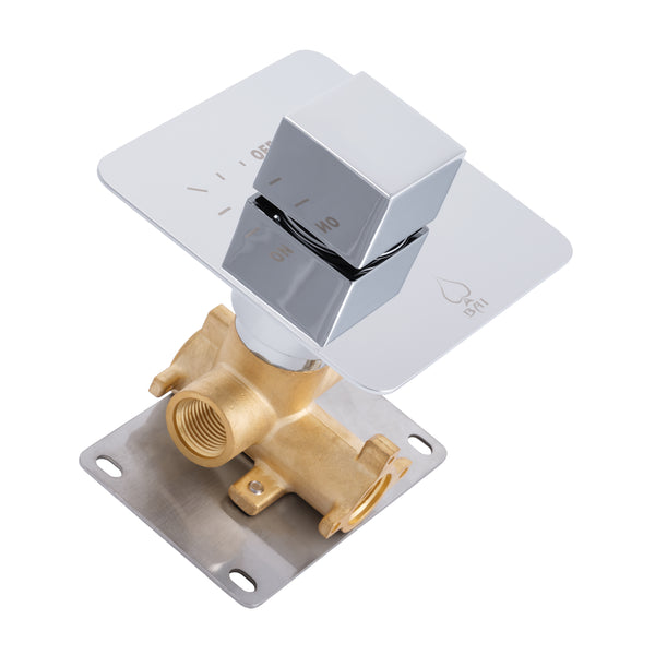 BAI 0140 Concealed 1 Function ON/OFF Shower Valve in Polished Chrome Finish