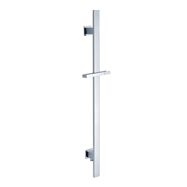 BAI 0171 Handheld Shower Holder Sliding Bar with Integrated Hose Connection in Polished Chrome Finish
