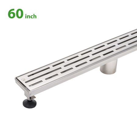 BAI 0567 Stainless Steel 60-inch Linear Shower Drain