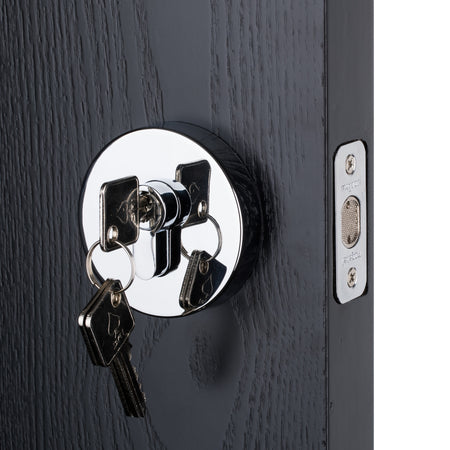BAI 3092 Round Rosette Deadbolt in Polished Chrome Finish