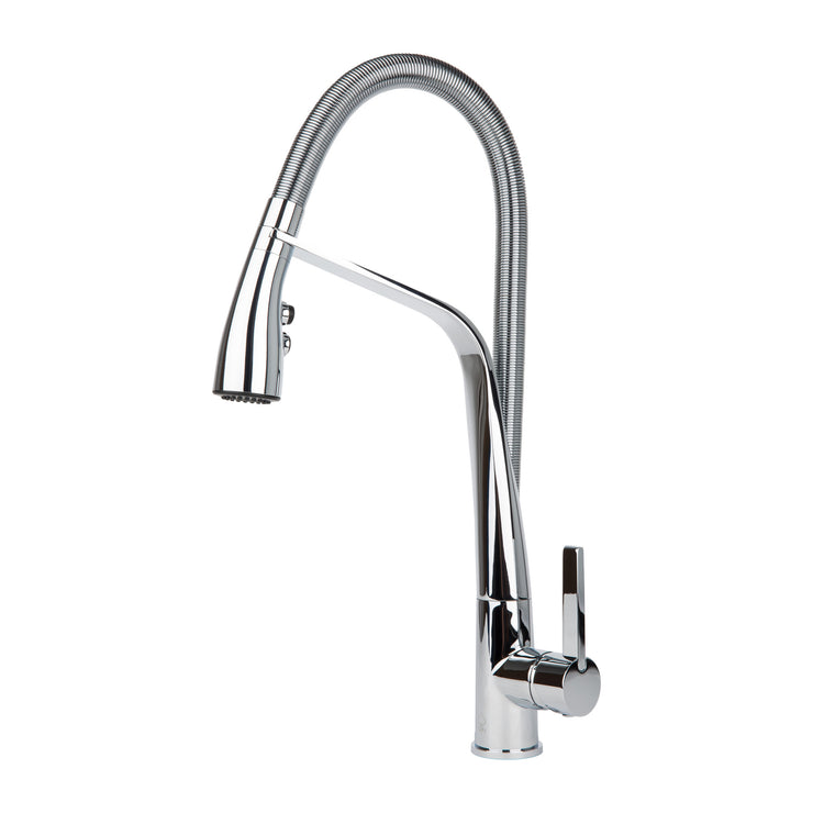 BAI 0603 Single Handle Kitchen Faucet with Pull-Down System in Polished Chromed Finish
