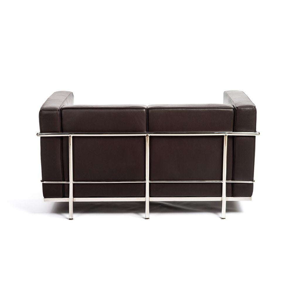 Le Corbusier LC2 Loveseat brown leather