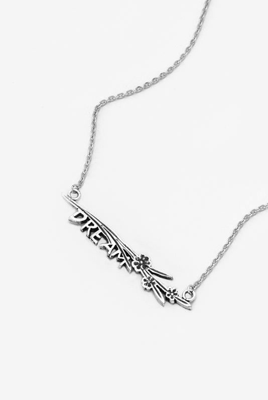 Maisie Dream Inspirational Bar Necklace - Silver Spoon Jewelry