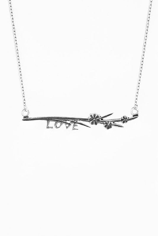 Maisie Love Inspirational Bar Necklace - Silver Spoon Jewelry