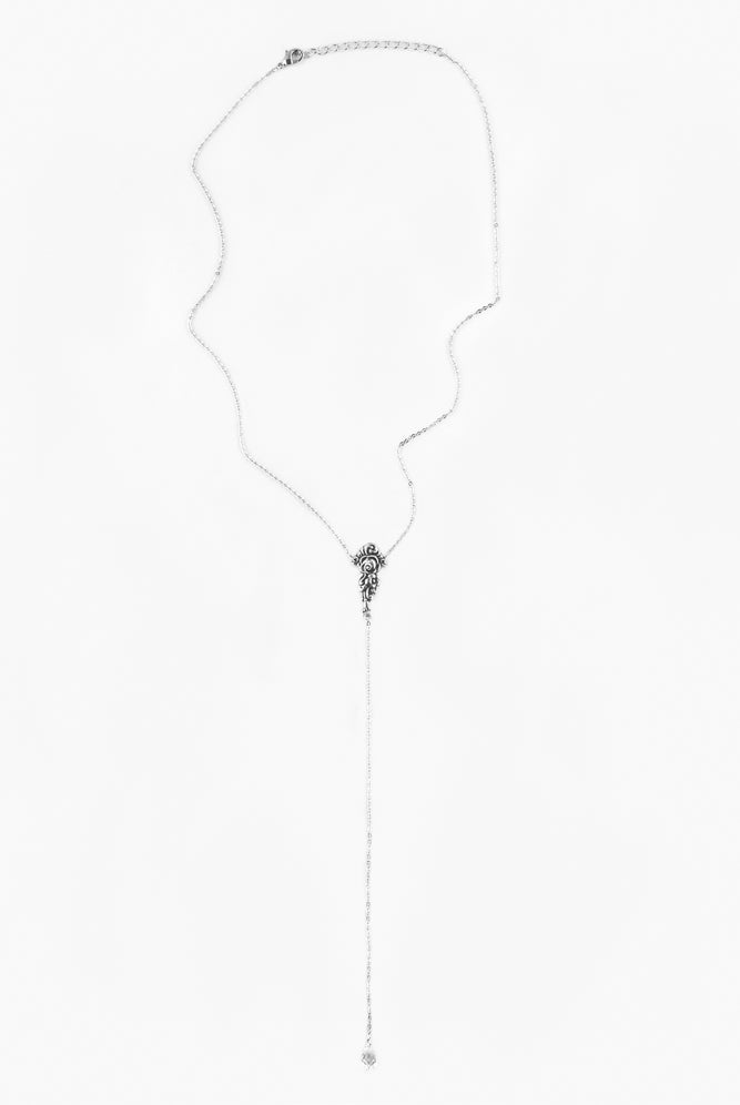 "Cass ""Y"" Necklace - Silver Spoon Jewelry"