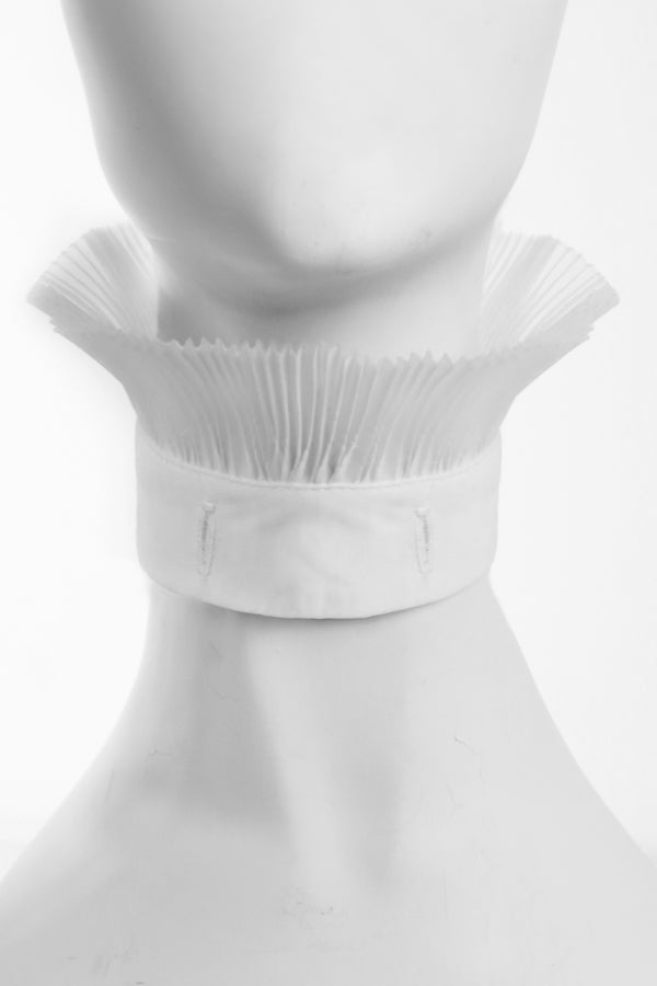WHITE PLEAT TRIM DETACHABLE COLLAR [CULT COLLECTION]