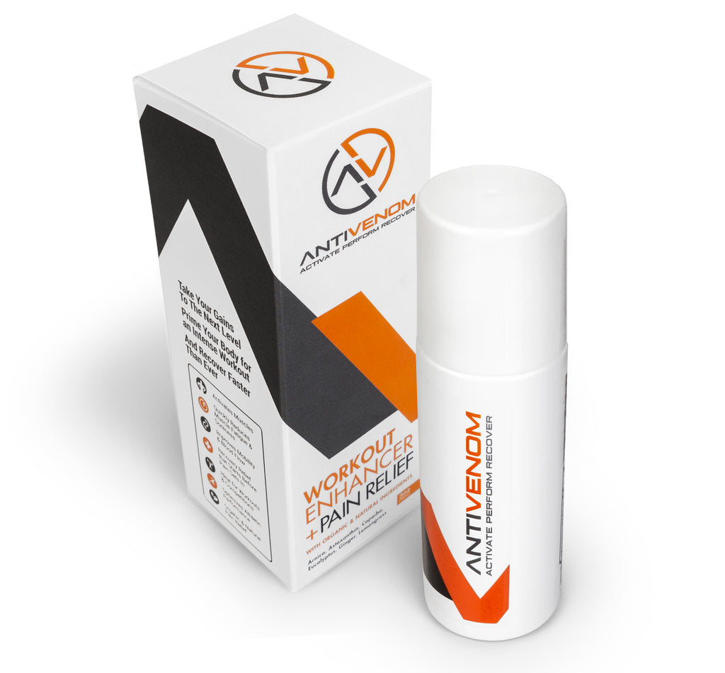 (NEW!) AntiVenom 2.0 - Workout Enhancer + Natural Pain Relief Roll On (3oz)