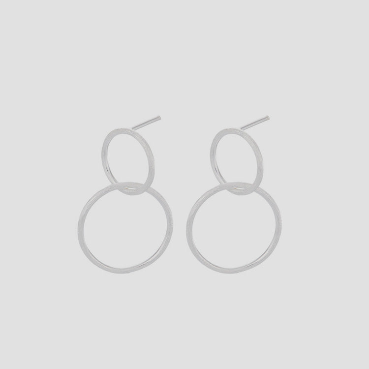 Product shot: Pernille Corydon Double Circle Silver Earrings