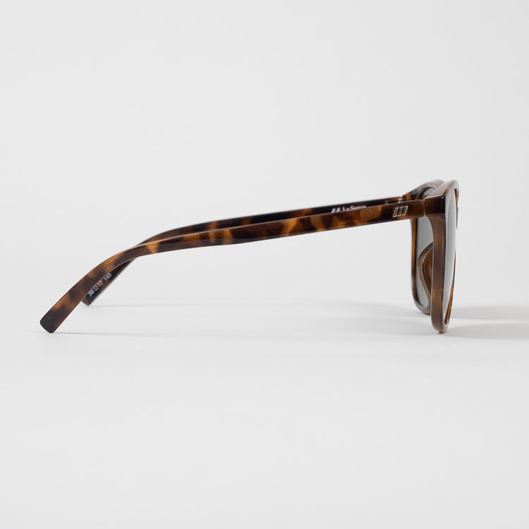 Le Specs Entitlement Milky Tort Sunglasses - profile view