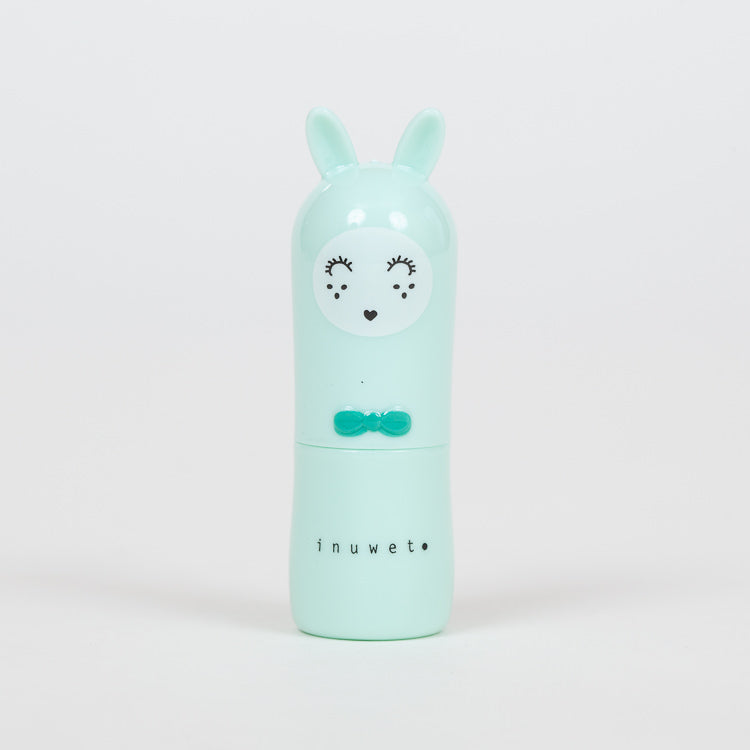 Product shot: INUWET Bunny Apple Lip Balm