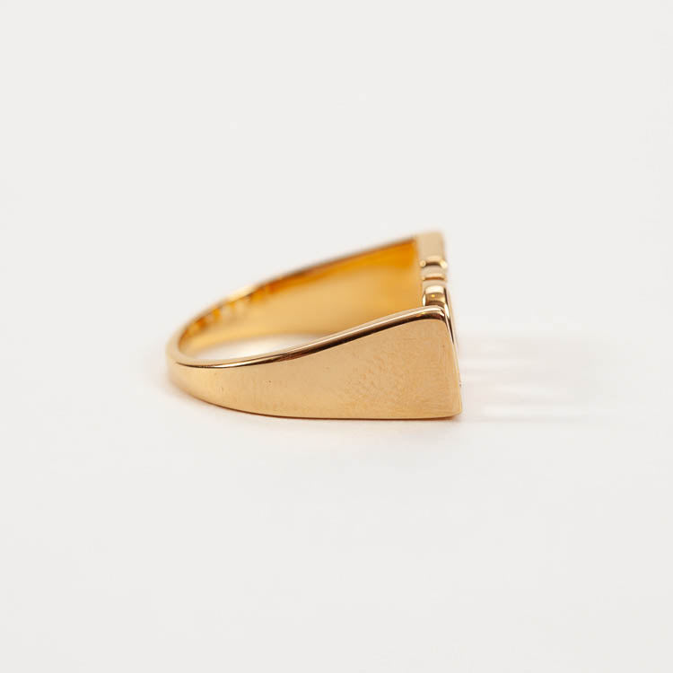 Size shot of the chunky Rachel Jackson Love Gold Ring