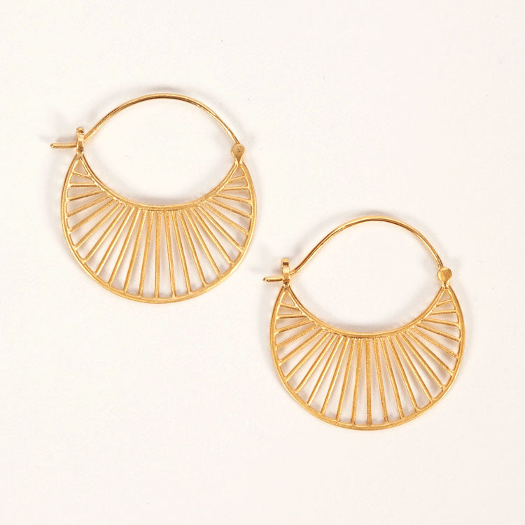 Pernille Corydon Large Daylight Gold Earrings