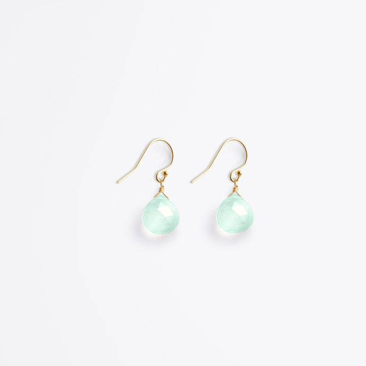 Wanderlust Life Sea Glass Chalcedony Isla Drop Earrings
