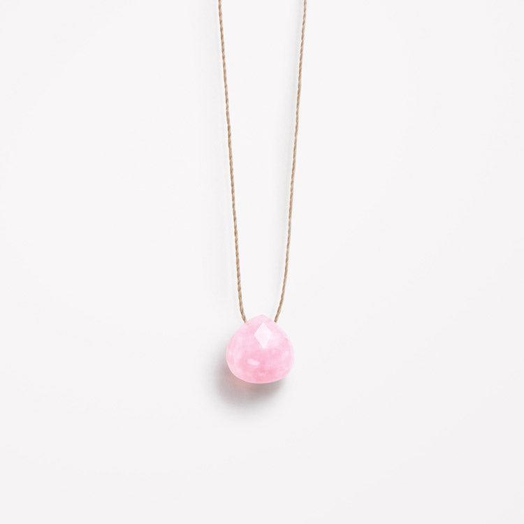 Product shot: Wanderlust Life October Birthstone Pink Opal Necklace