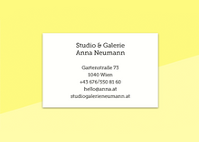 "Load image into Gallery viewer, business cards  – ""jaune-marine"""