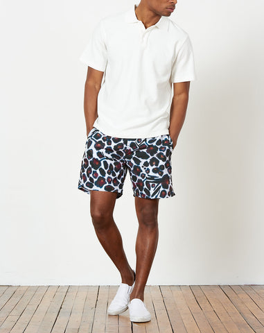 Timothy Water Floral Swim Short in Dark Mauve