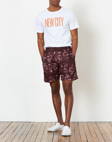Trent Pendant Swim Short in Dark Mauve