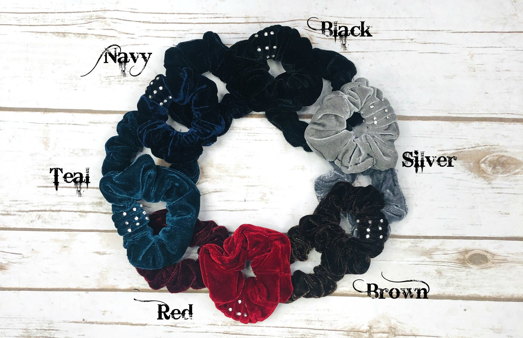 Bedazzled Scrunchy: 2-Pack