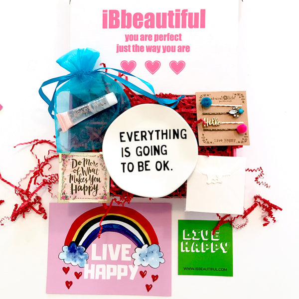 ibbeautiful monthly subscription boxes for girls ages 6-15. live happy box