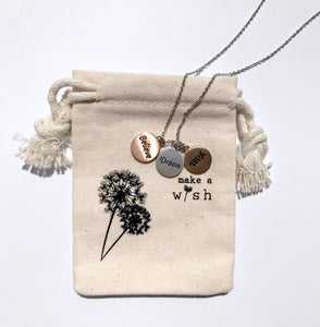 iBbeautiful Dream, wish, believe necklace