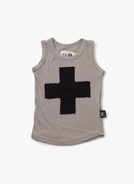 Nununu Plus Patch Tank Top in Light Grey - FINAL SALE