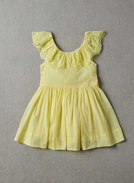 Nellystella Piper Dress in Chartreuse