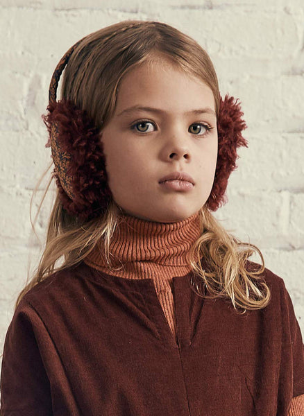Tia Cibani Puno Bow Earmuff in Pecan - FINAL SALE