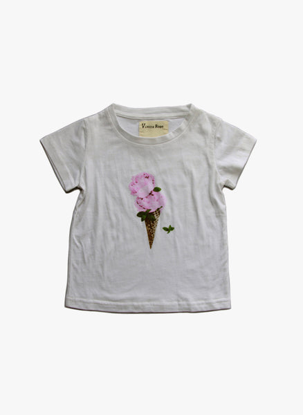 Vierra Rose Kendra Ice Cream Tee in Cloud - FINAL SALE