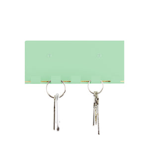 modern key hook mint green