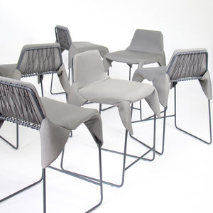 modern net wrap chair counter