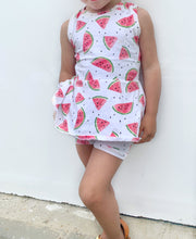 Load image into Gallery viewer, Watermelon Peplum Tank Top