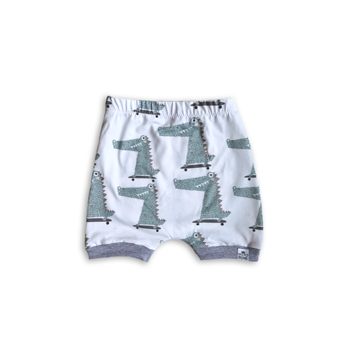 Hipster Gator Harem Shorts or Bummies for Baby Toddler and Kids