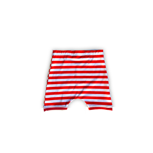 Red + White Striped Harem Shorts or Bummies for Baby Toddler and Kids [stars + stripes collection]