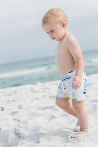 Sailboat Euro Swim Shorts- Baby Toddler Kids