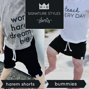 Handmade Tank Top [Solid Black] + Harem Shorts or Bummies Gift Set