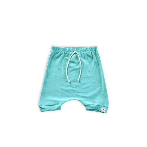 Capri Blue (Seafoam) Harem Shorts or Bummies for Baby Toddler and Kids