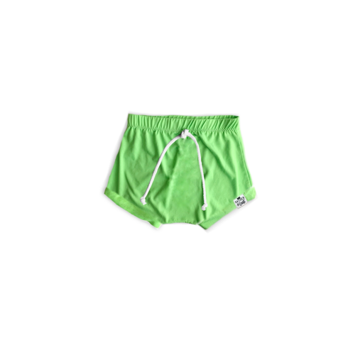 Neon Green Lime Bummies or Harem Shorts for Baby Toddler and Kids