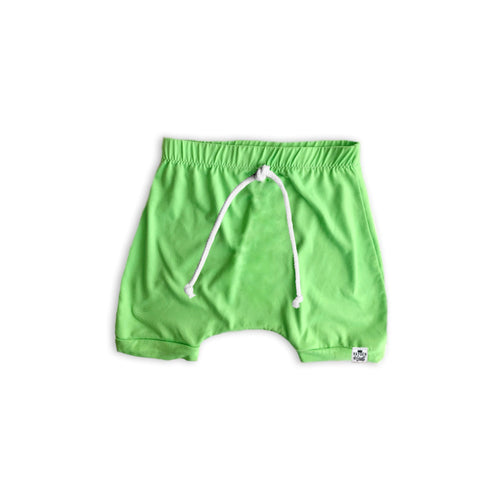 Neon Lime Green Harem Shorts or Bummies for Baby Toddler and Kids