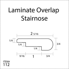 Flexitions Stainable Flexible Laminate Overlap Stair Nose
