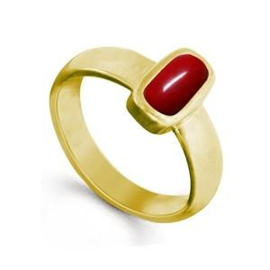 Red Coral/Moonga Panchdhatu Ring (Love, Attraction and Victory)