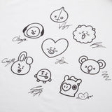 [BTS] BT21 Signature T-Shirt LIMITED QUANTITY!! / (Free Shipping)