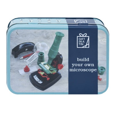 Gifts in a Tin Build Your Own Microscope